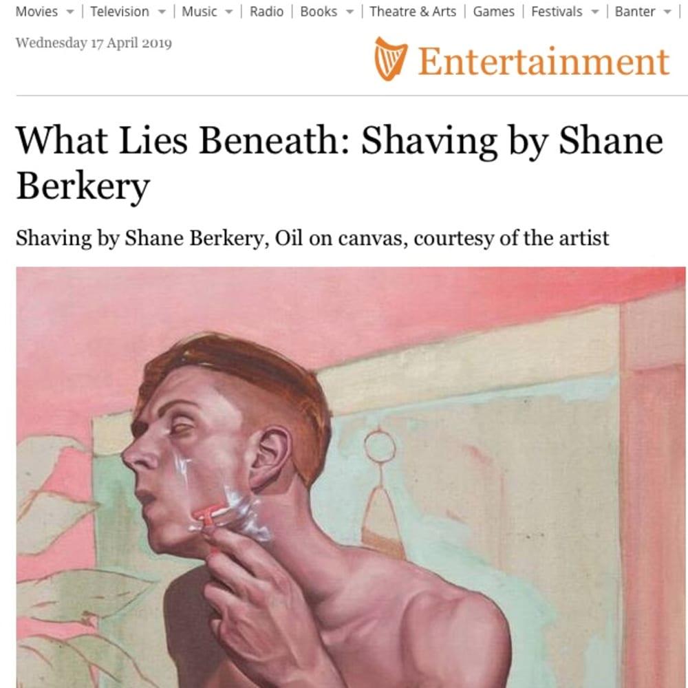 What lies beneath: Shane Berkery