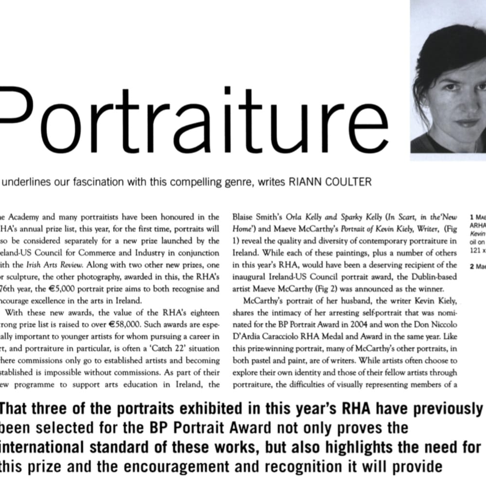 Maeve McCarthy: Reclaiming Portraiture