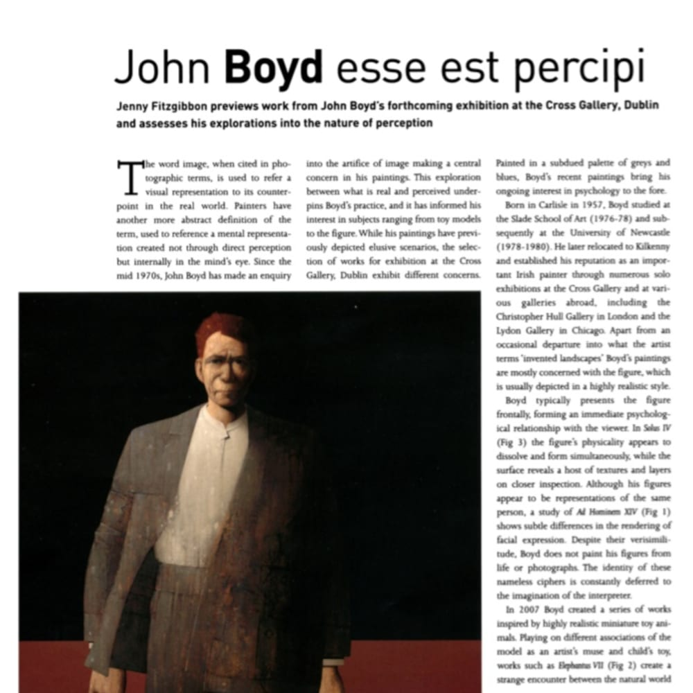 John Boyd: The Irish Arts Review