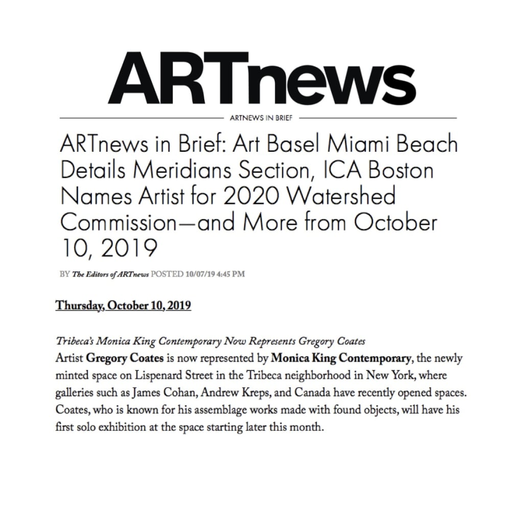 ARTnews in Brief
