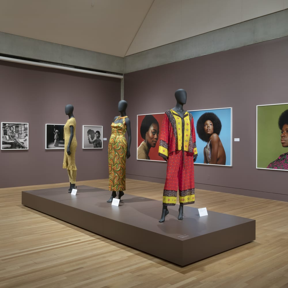 Kwame Brathwaite, Black Is Beautiful (2019) (installation view). Image courtesy of the artist and Skirball Cultural Center, Los Angeles. Photo: Robert Wedemeyer.