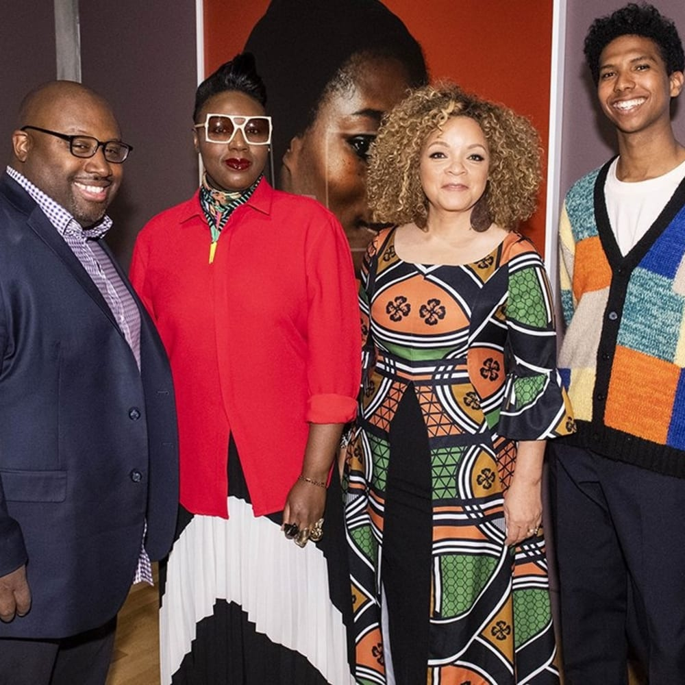 Kwame S. Brathwaite, Mimi Plange, Ruth E. Carter, and Tyler Mitchell. Image courtesy of Skirball Cultural Center/Timothy Norris.