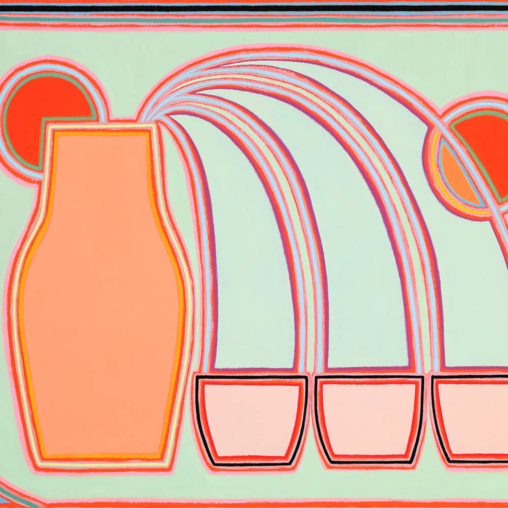 Holly Coulis, Triple Pour, Oranges (2018). Image courtesy of the artist and Philip Martin Gallery, Los Angeles.