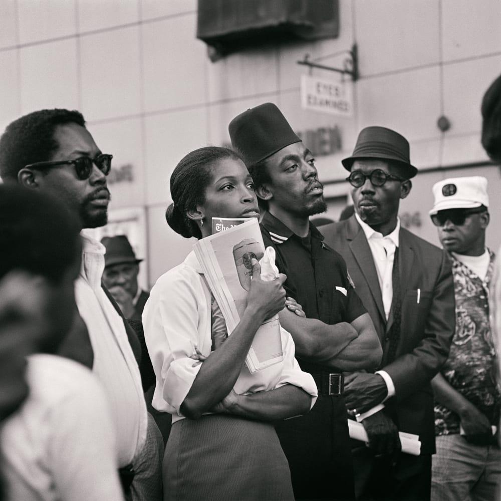 Kwame Brathwaite, Untitled (Garvey Day Parade - Harlem) (1967). Archival pigment print.