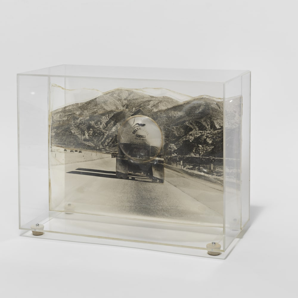 Carl Cheng, Tank Truck (1968). Film, molded plastic, plexiglass, 9 1/2 x 12 1/8 x 6 1/8 inches. Courtesy of the artist and Hauser & Wirth, New York. Photo: Genevieve Hanson.