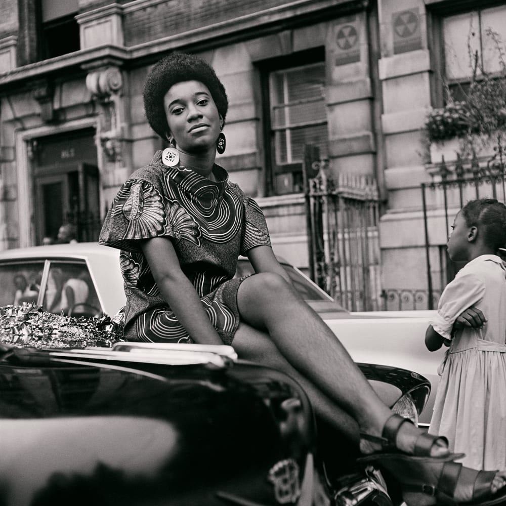 Kwame Brathwaite, Untitled (Pat on Car) (1968). Archival pigment print.