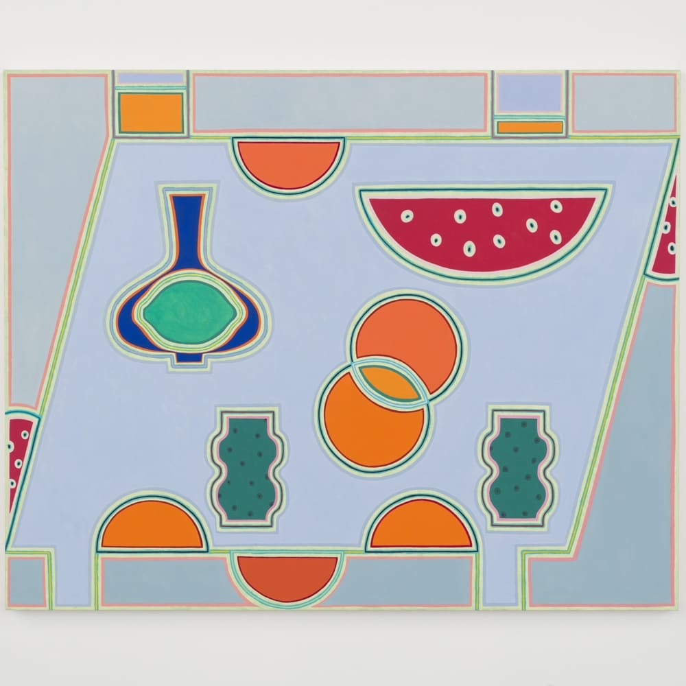 Holly Coulis, Outside Watermelon (2019). Oil on linen, 48 x 60 inches.