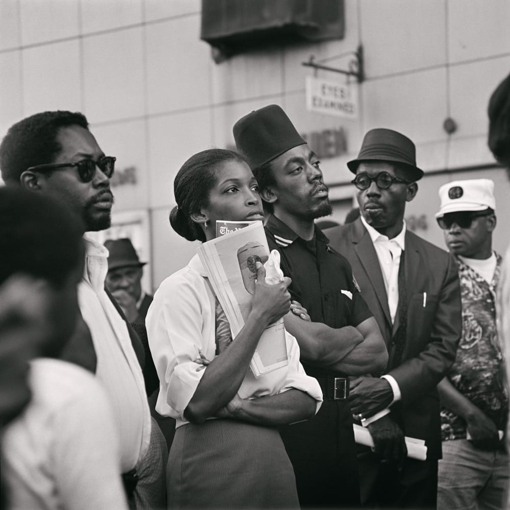 Untitled (Garvey Day Parade — Harlem), 1967. Credit Kwame Brathwaite/Courtesy of Philip Martin Gallery, Los Angeles