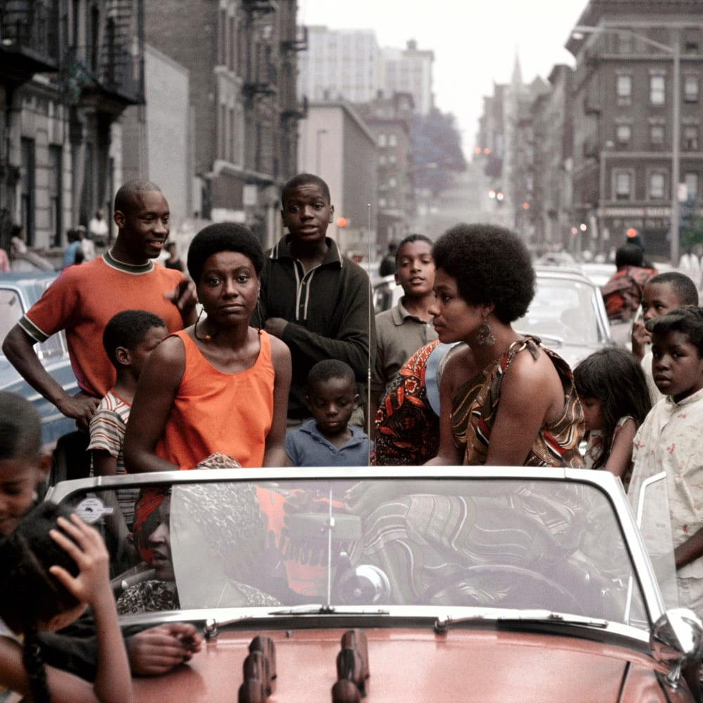 Kwame Brathwaite, Untitled (Garvey Day, Deedee in Car) (1965). Image courtesy of the artist and Philip Martin Gallery, Los Angeles.