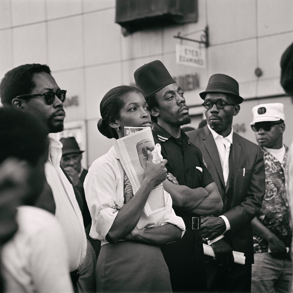 Kwame Brathwaite, Untitled (Garvey Day Parade - Harlem) (1967). Image courtesy of the artist and Philip Martin Gallery, Los Angeles.
