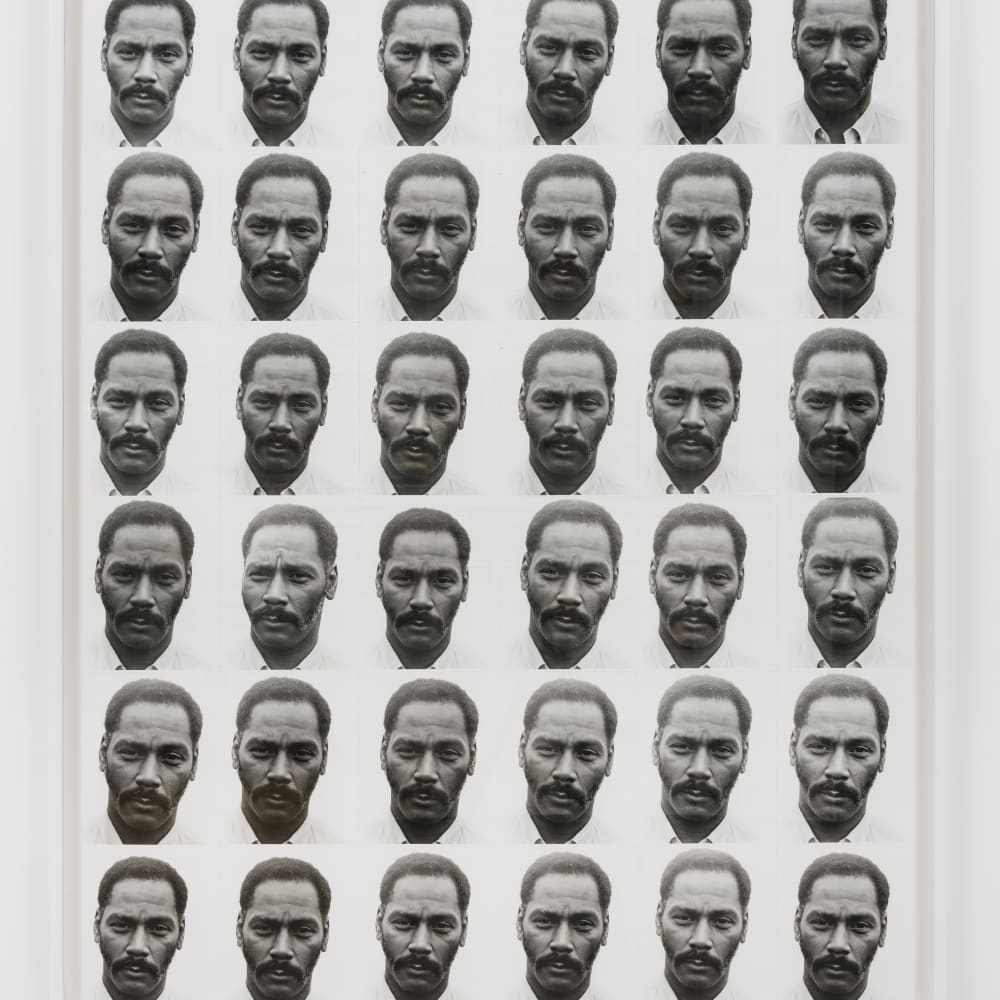Lew Thomas, LAVERNE'S PORTRAIT EQUALS 36 EXPOSURES (1972). Image courtesy of the artist and Philip Martin Gallery, Los Angeles.