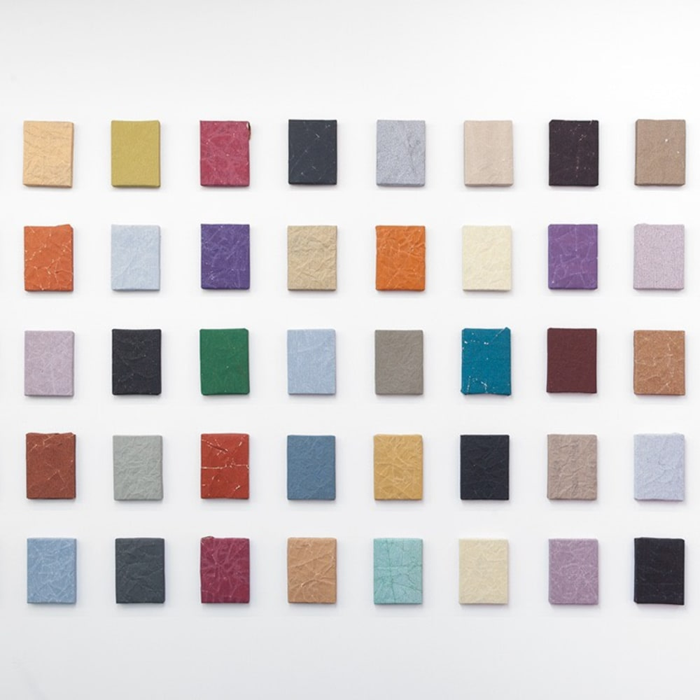 Untitled, 2018, Sandpaper on wooden panel, 20.5 x 15.5 cm / each
