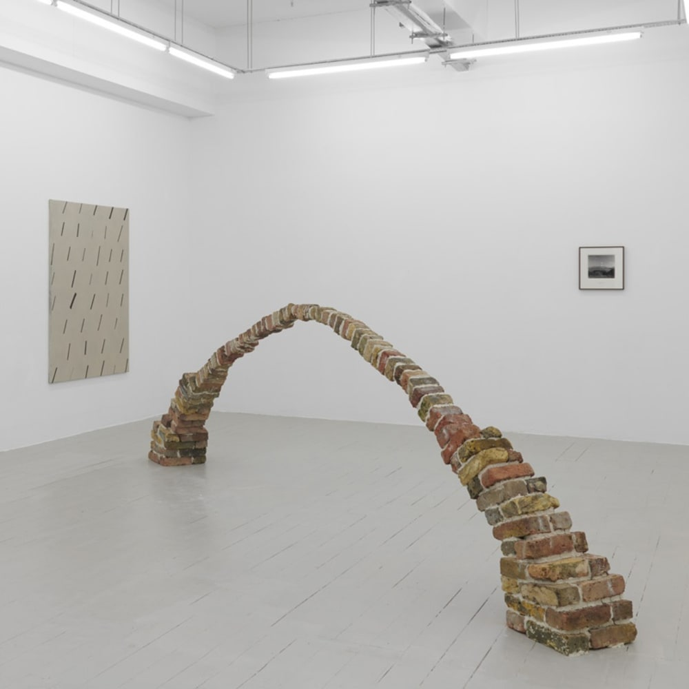 Golden Family: Matt Golden - Natsue Ikeda 'Troubled Waters' - 2018 - found 'London' bricks / clay - 490 cm x 130 cm