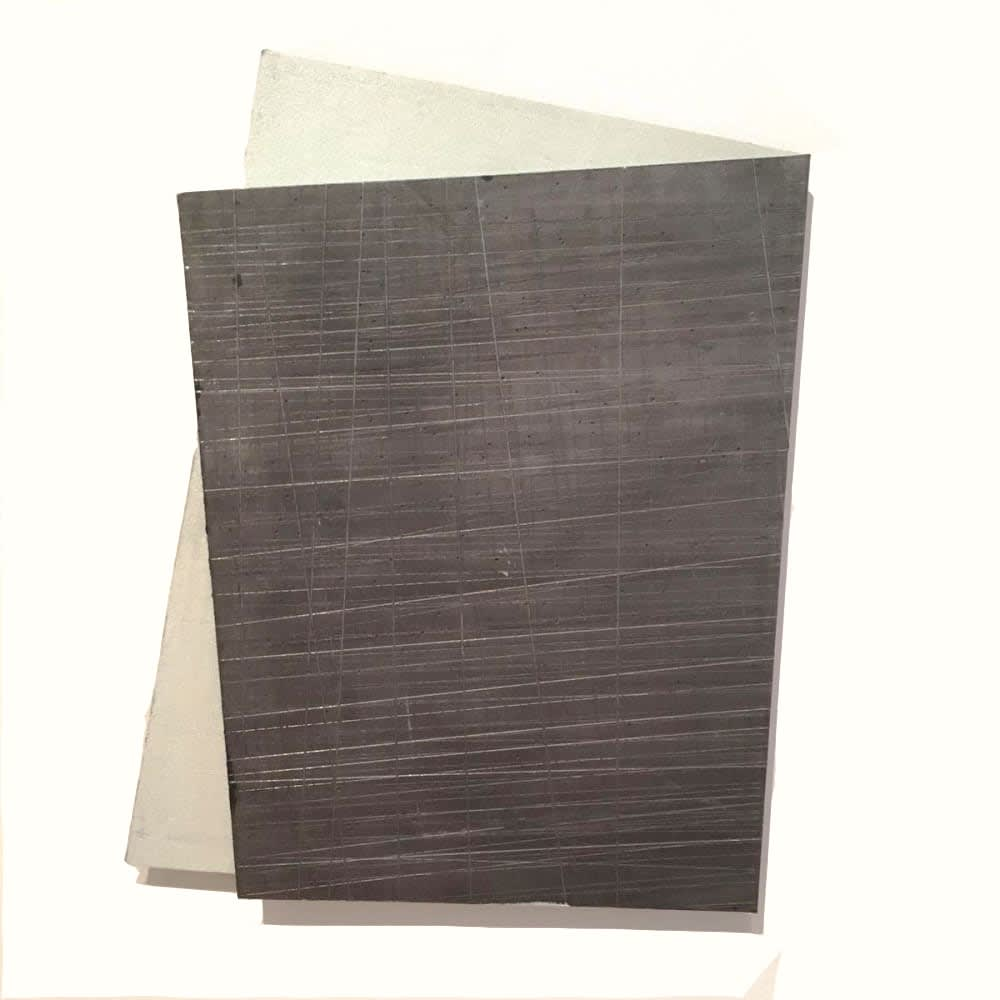 Intersection 1, 2019, folded lead sculpture, 38 x 28 x 2 cm