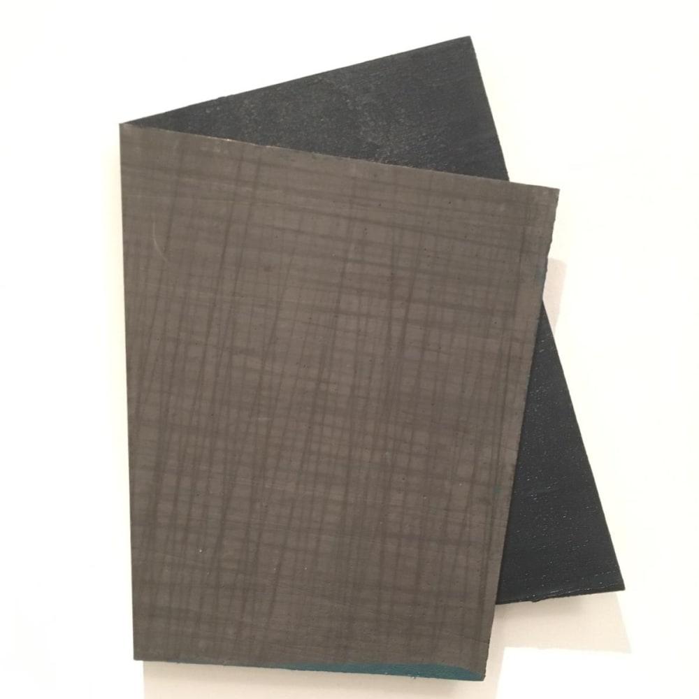 Intersection 6, 2019, folded lead sculpture, 39 x 29,5 x 2 cm