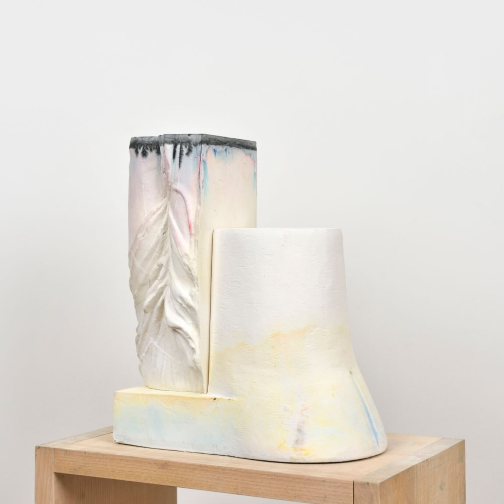 Maude Maris - Yellow Sculpture - 2019 - plaster and ink - 37 x 21 x 17 cm