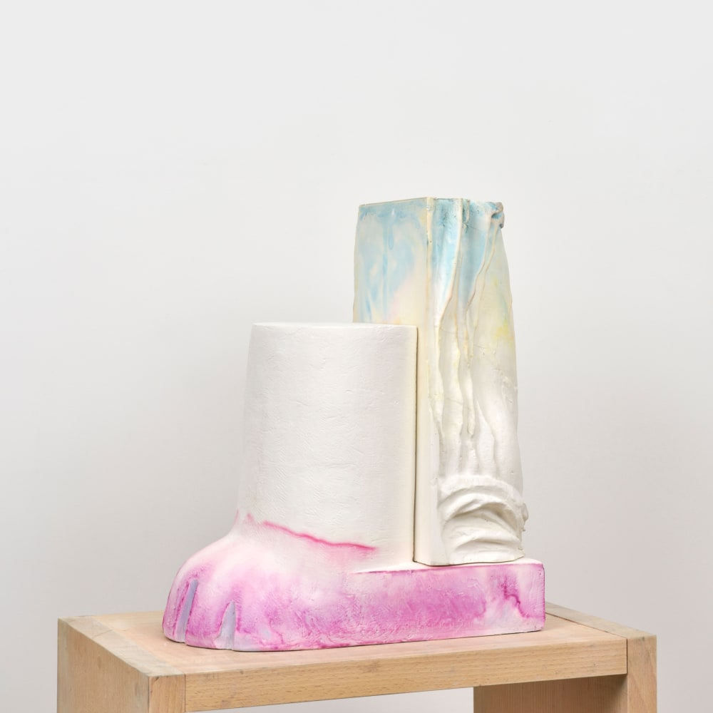 Maude Maris - Pink Sculpture - 2019 - plaster and ink - 37 x 31 x 17 cm