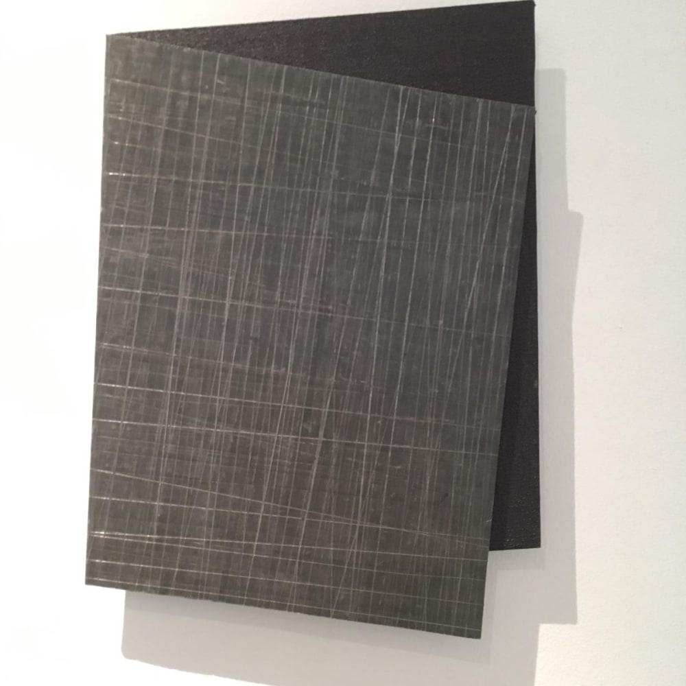 Intersection 7, 2019, folded lead sculpture, 40 x 27,6 x 2 cm