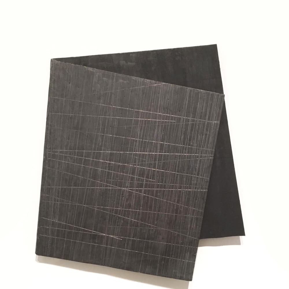 Intersection 5, 2019, folded lead sculpture, 39 x 34,5 x 2 cm