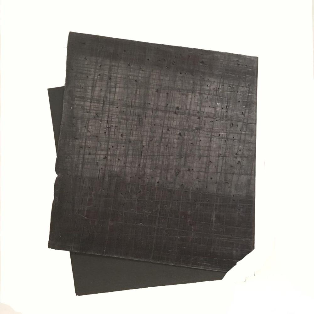 Intersection 3, 2019, folded lead sculpture, 41 x 31 x 2 cm