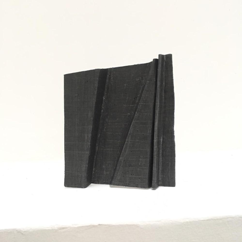 Meditation 2, 2004 - 2019, folded lead sculpture, 14 x16 x 2 cm