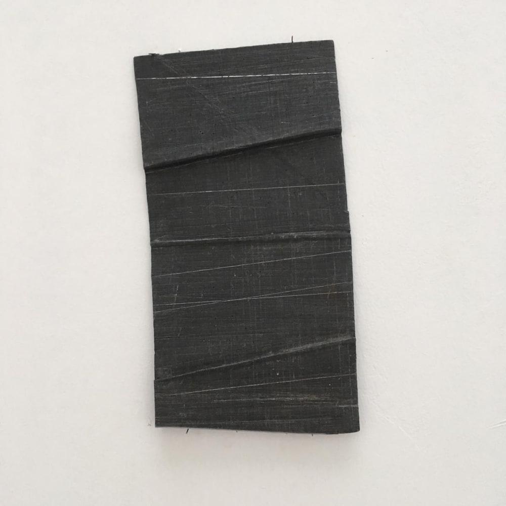 Meditation 3, 2004 - 2019, folded lead drawing, 29 x15 cm