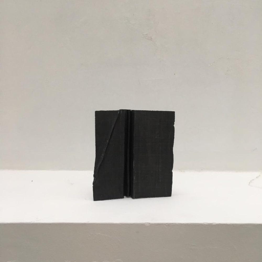 Meditation 5, 2004 - 2019, folded lead sculpture, 15 x13,5 x 3,5 cm