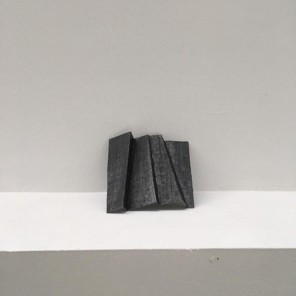 Meditation 6, 2004 - 2019, folded lead sculpture, 16 x16 x 2,5 cm