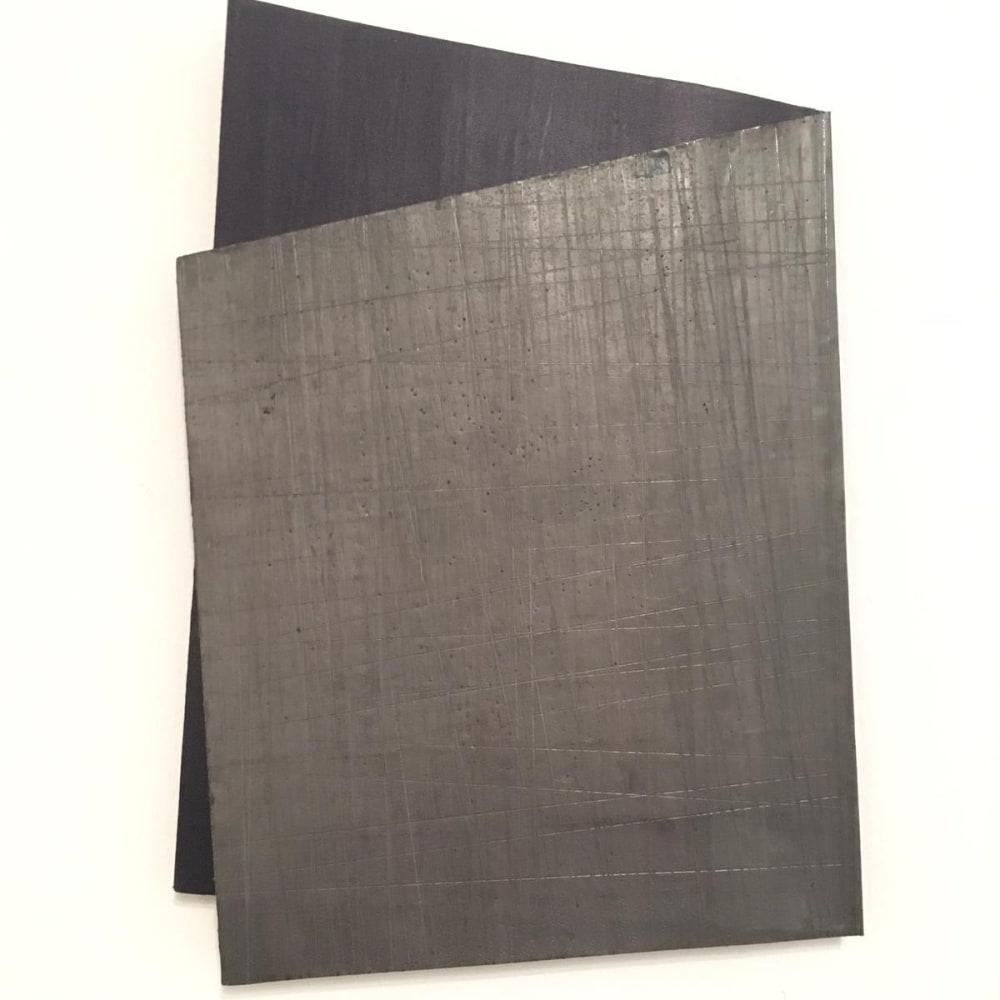 Intersection 4, 2019, folded lead sculpture, 39 x 25,5 x 2 cm