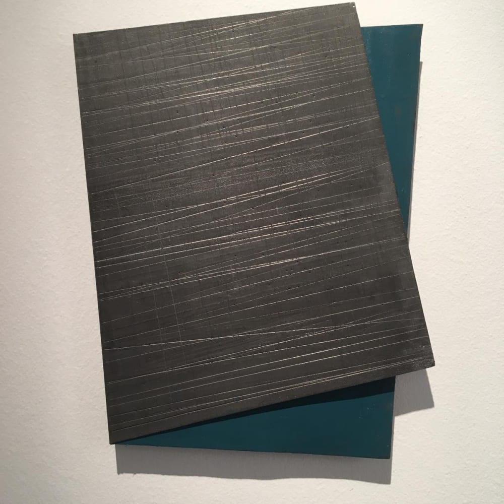 Intersection 8, 2019, folded lead sculpture, 36,5 x 26.5 x 2 cm