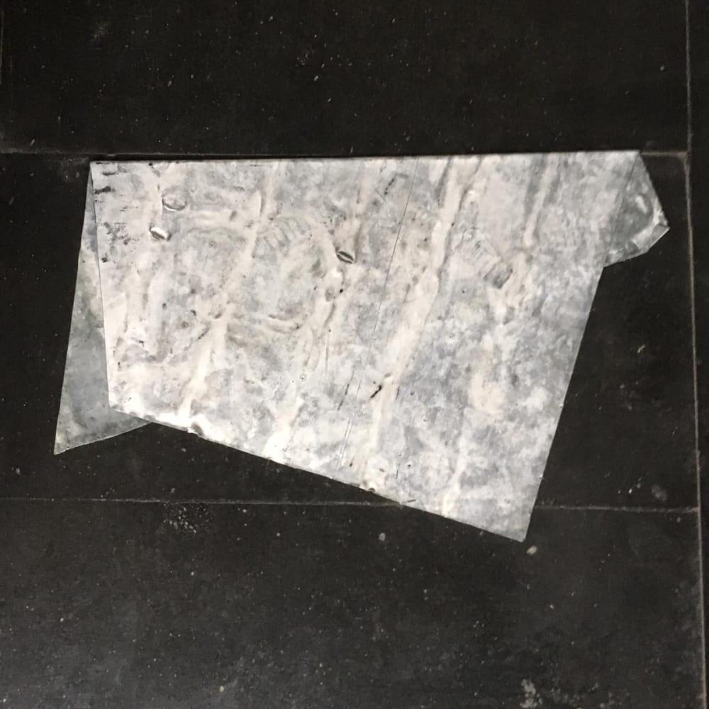 Untitled, 2019, folded lead drawing, 43,5 x 67 cm