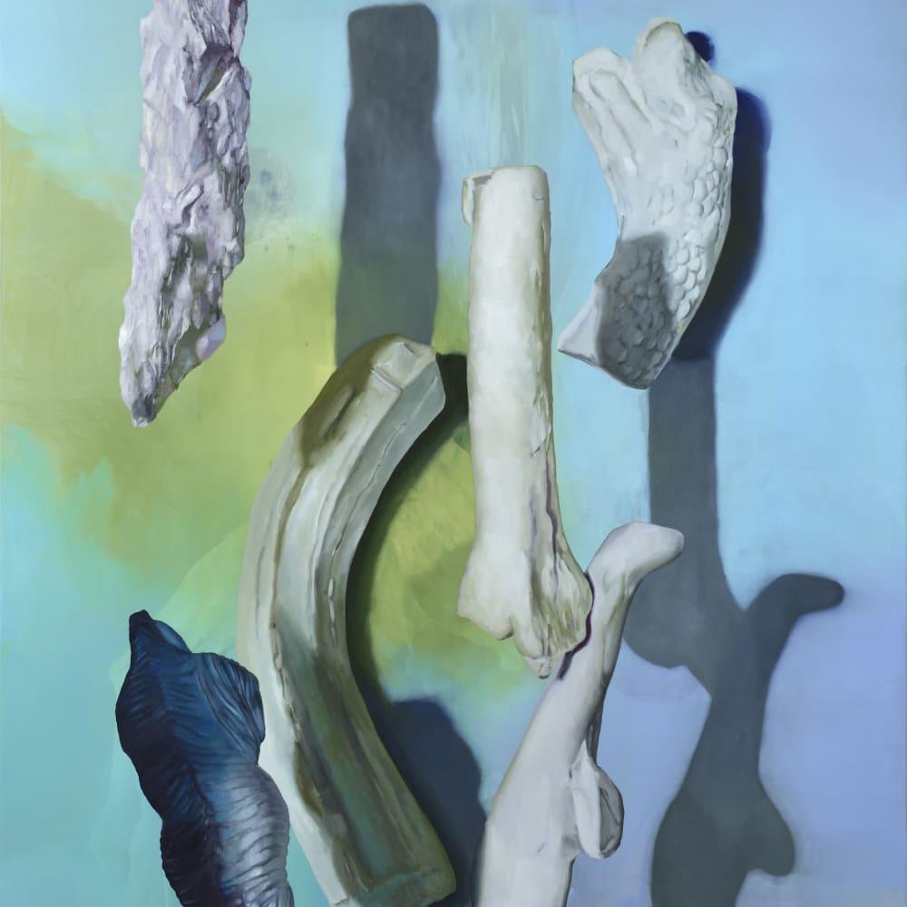 Maude Maris Dino 2018 oil on canvas 220 x 60 cm