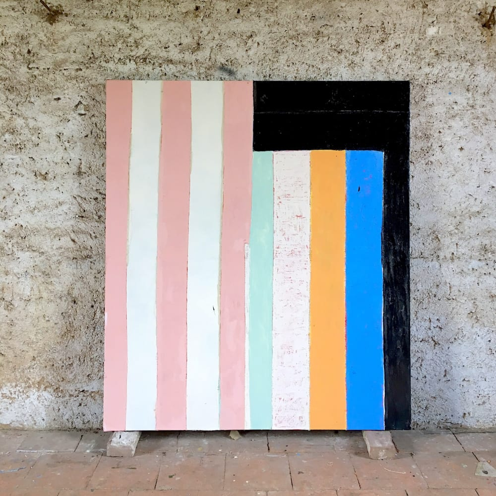 'Curb', 160 x 140cm, in Galina Munroe's Albi residency studio