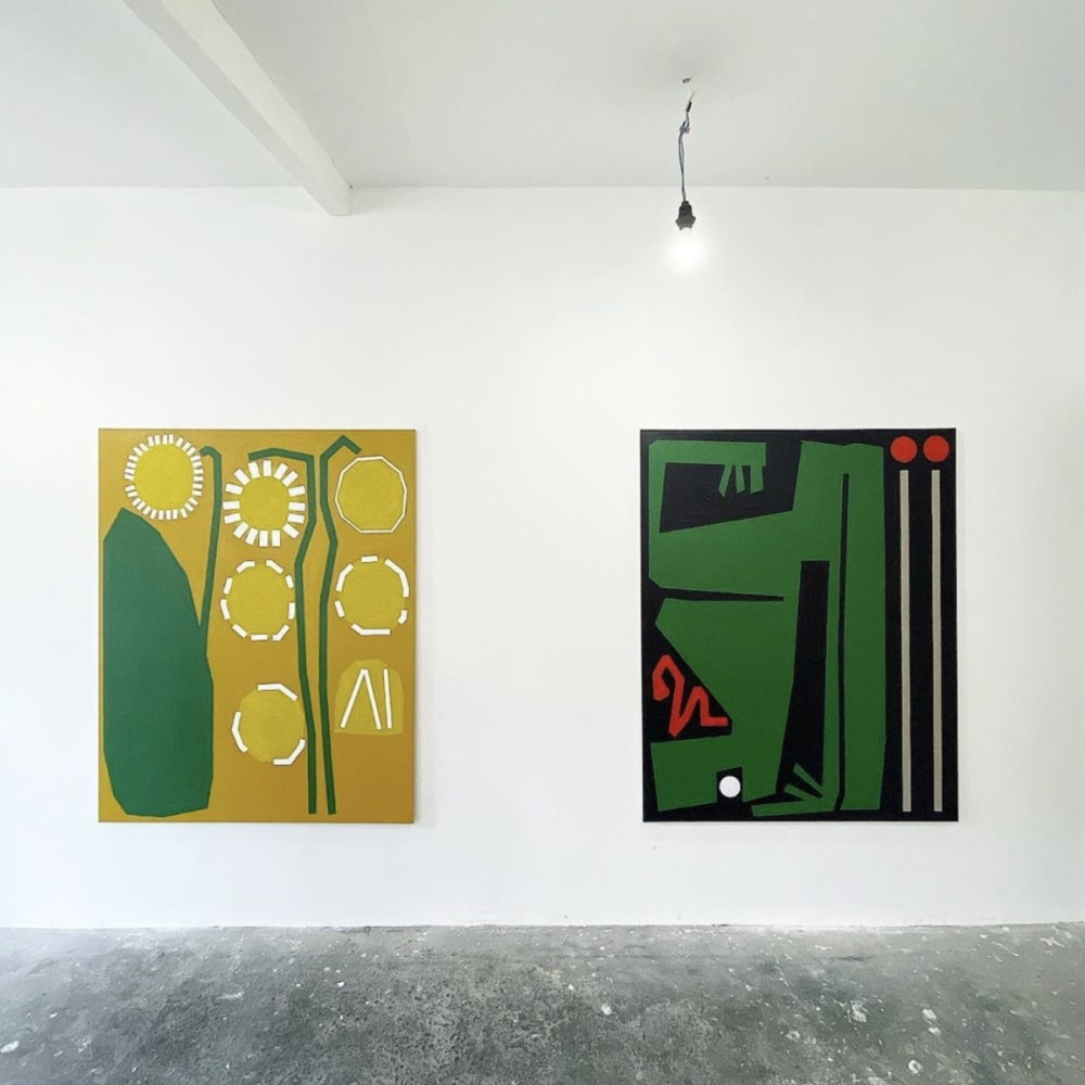 Bertrand Fournier The Daffodils of Richarville, 2019 & Frog in Box, 2019