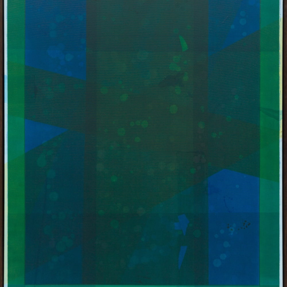 Maximilian Daniels, Green Shade, 2019, Oil on canvas 130 x 100cm