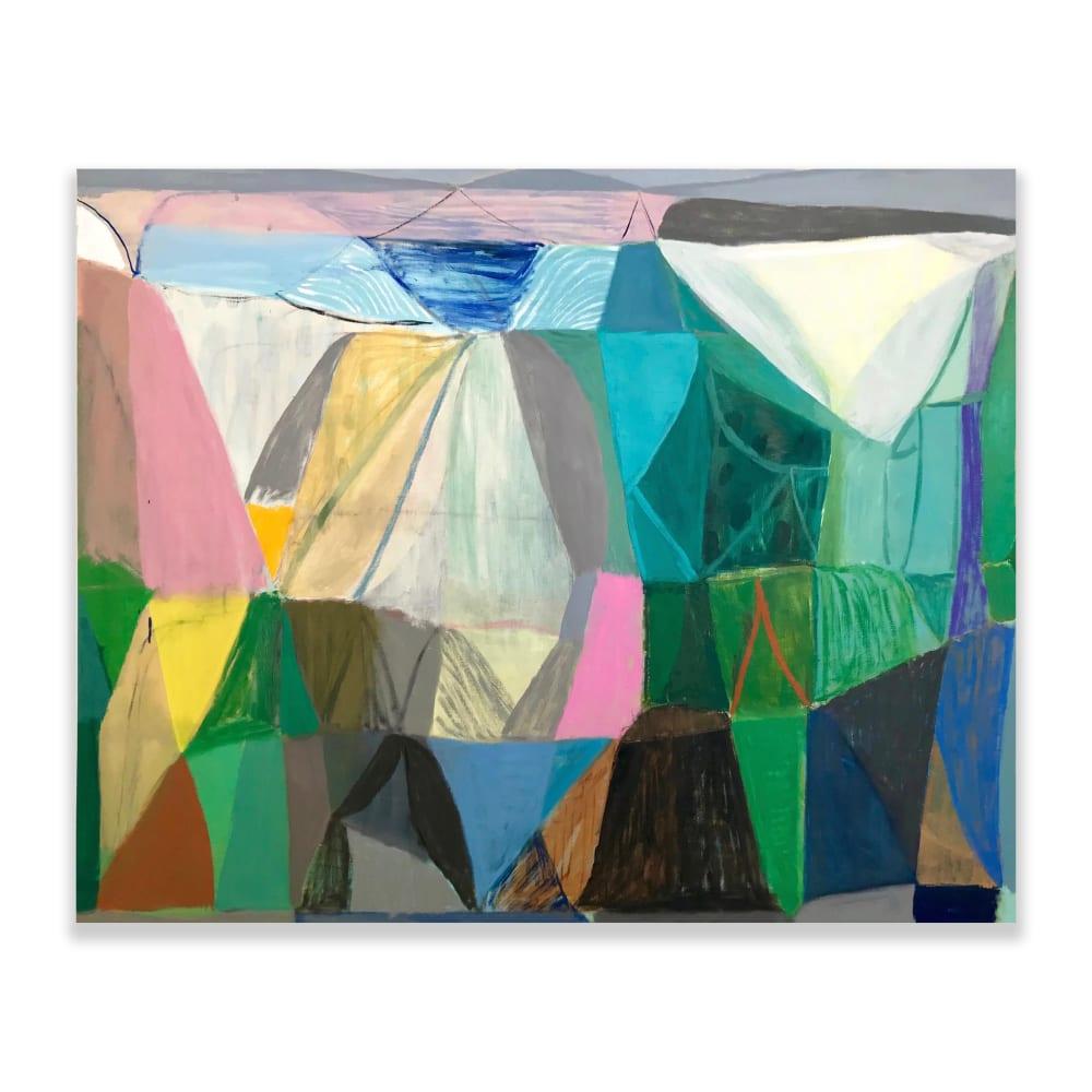 Terry Ekasala, Circustent, 2019, oil & acrylic on linen, 124 x 152.5cm