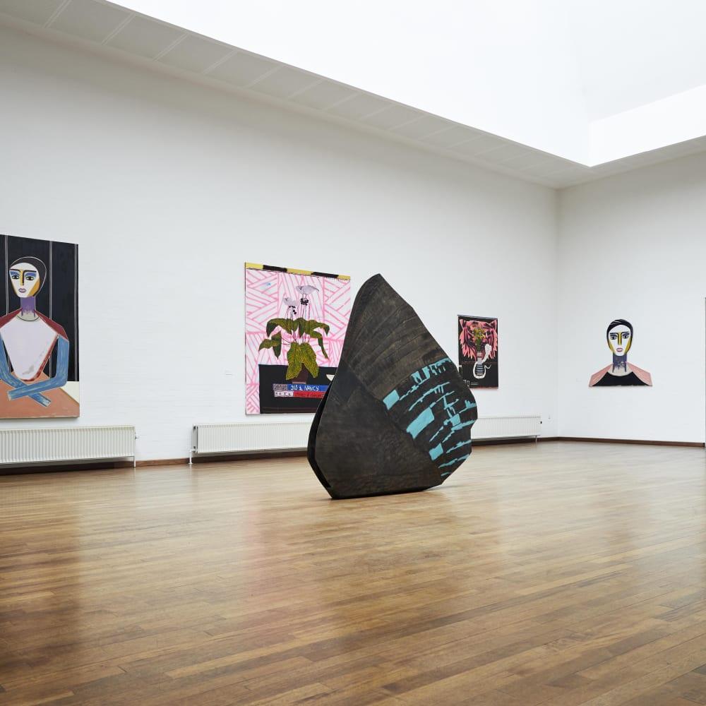 Install: Figurarion / Abstraction, at Kunst Bygningen i Vraa, Denmark. Photo credit: Andrea Overbye