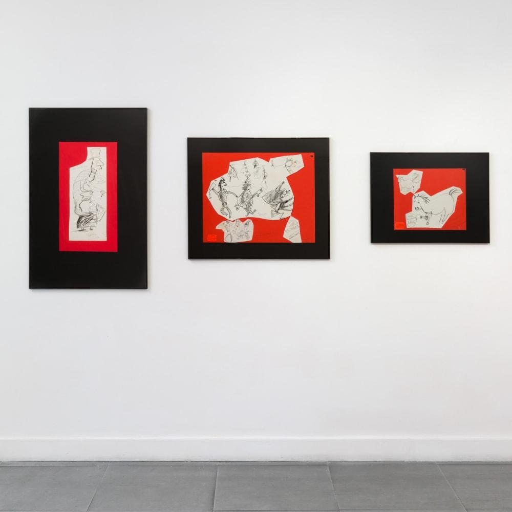 Installation view, Richard Saltoun Gallery, 2017