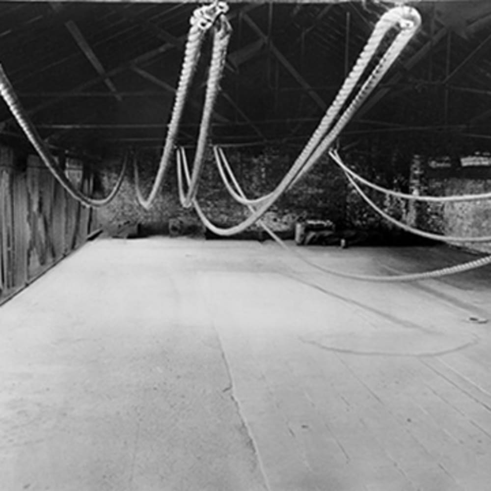 Roelof Louw, Rope Piece, 1967 Installation view at Stockwell Depot 2: Sculpture, 1969, London, UK . Copyright Ray Sacks