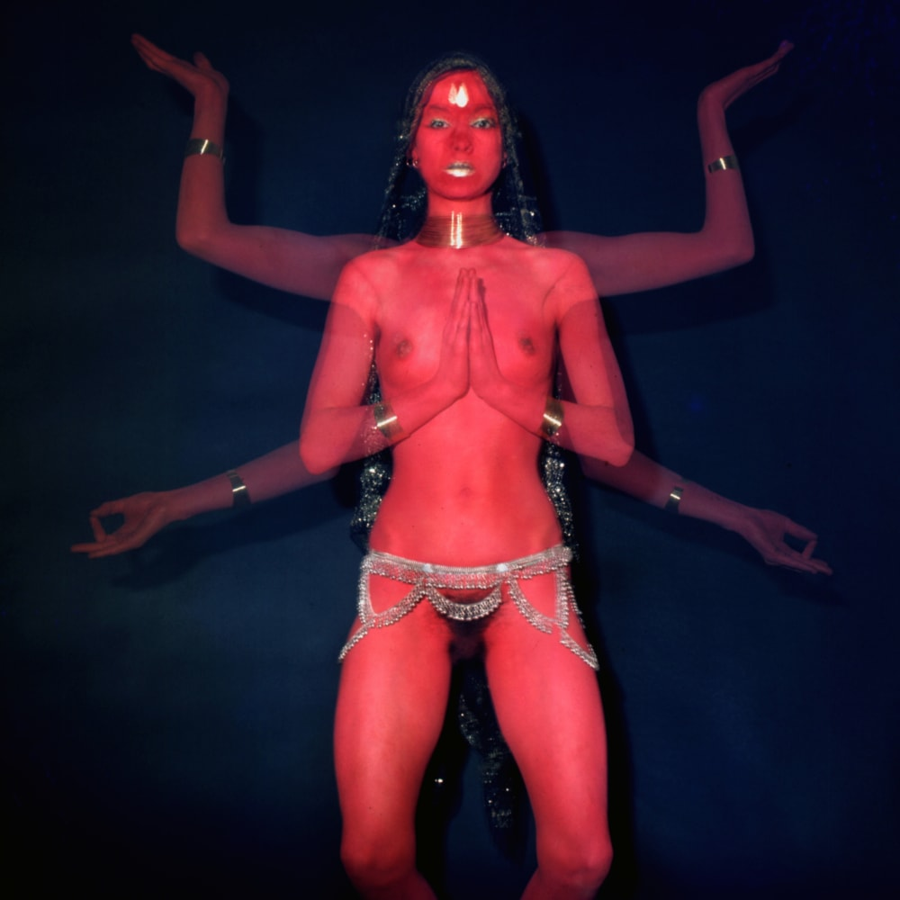 'Penny as Red Dakini', 1977. Photo by Mayotte Magnus