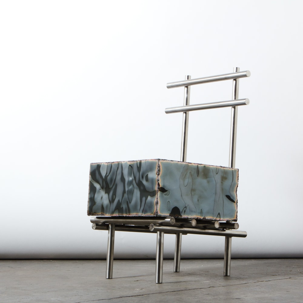 MICHAEL GITTINGS, Stocky Chair, 2019, Stainless Steel, 80 x 45 x 50 cm, Edition of 10