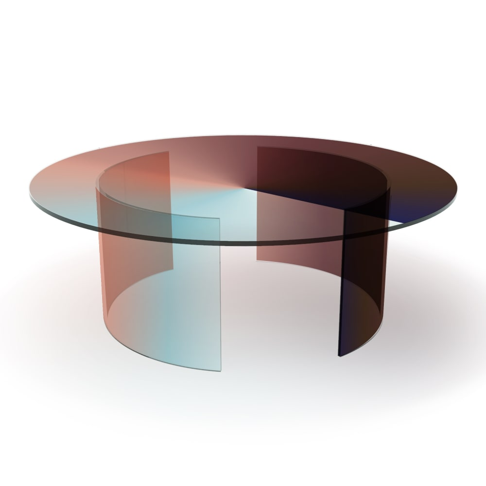 Rive Roshan Colour Dial Table, Blue Rouge Light, 2020