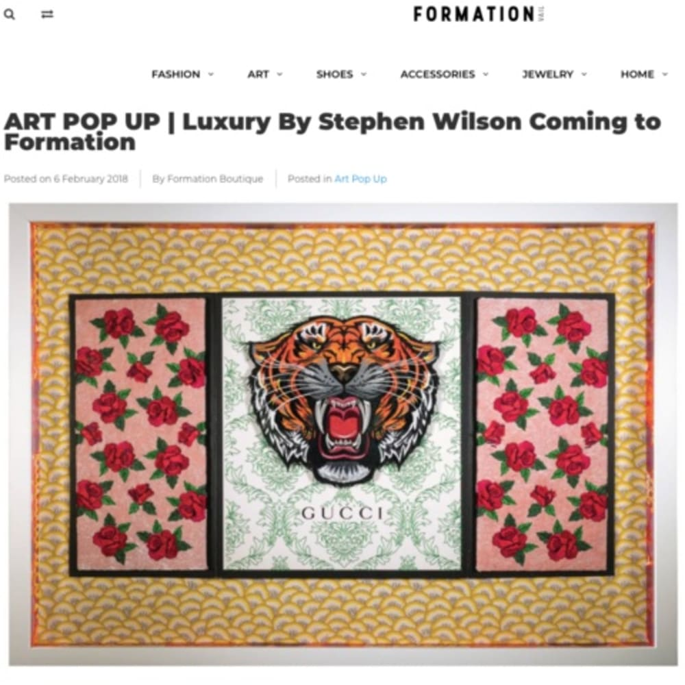 ART POP UP | Luxury By Stephen Wilson Coming to Formation