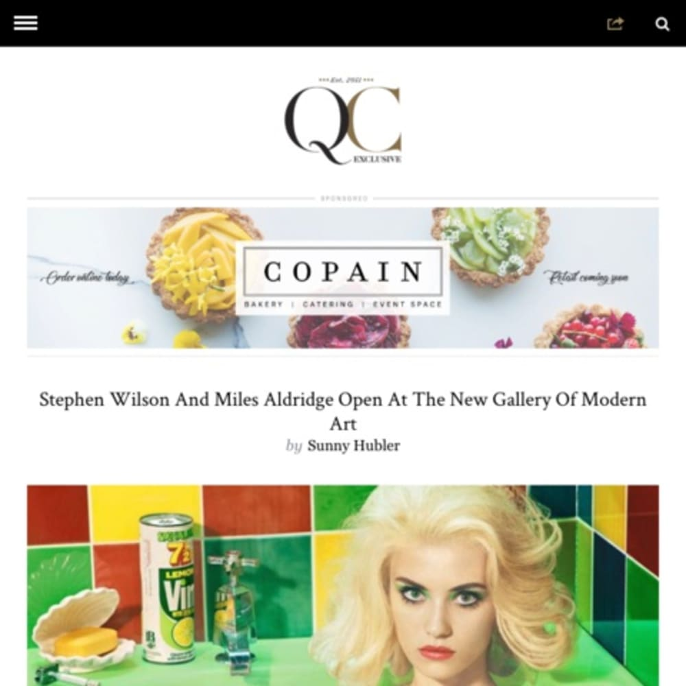 Stephen Wilson And Miles Aldridge Open At The New Gallery Of Modern Art