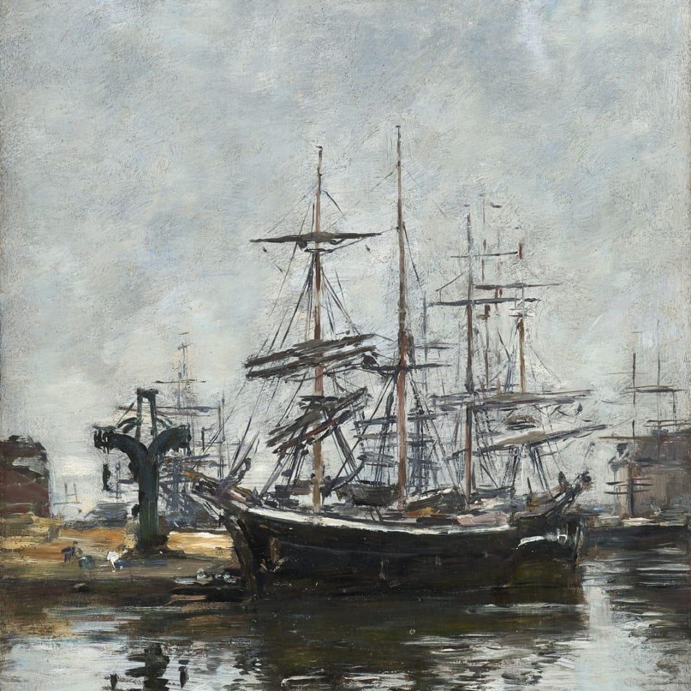 Le Havre, voiliers à quai, bassin de la Barre
