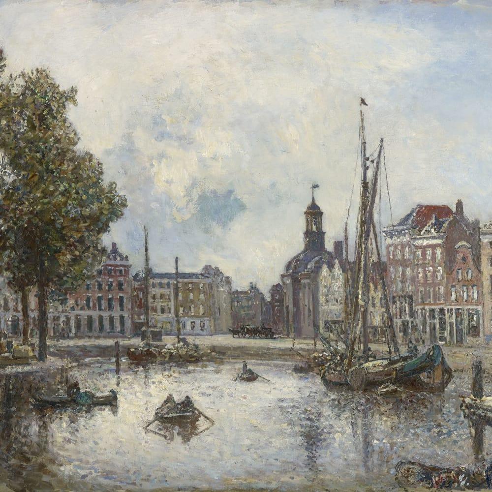 Le port de Rotterdam, le matin; vue sur la Bourse,