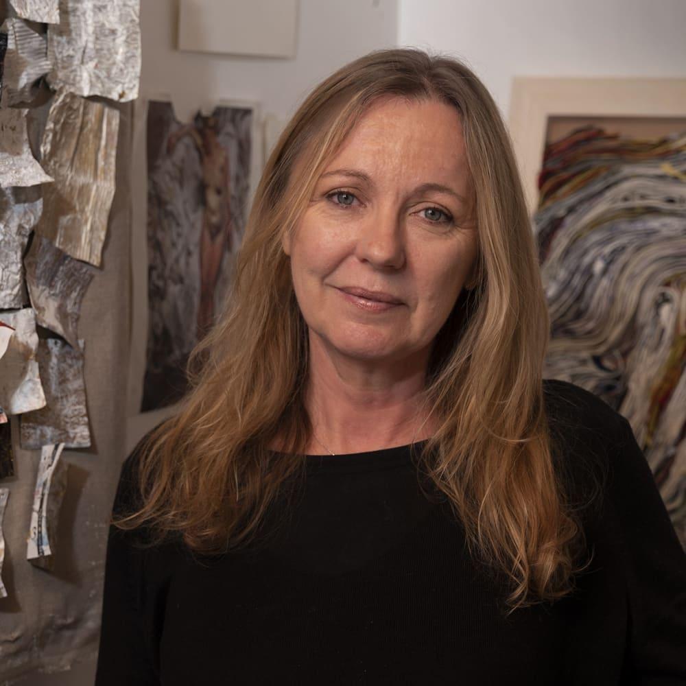 Carolyn Parton in studio