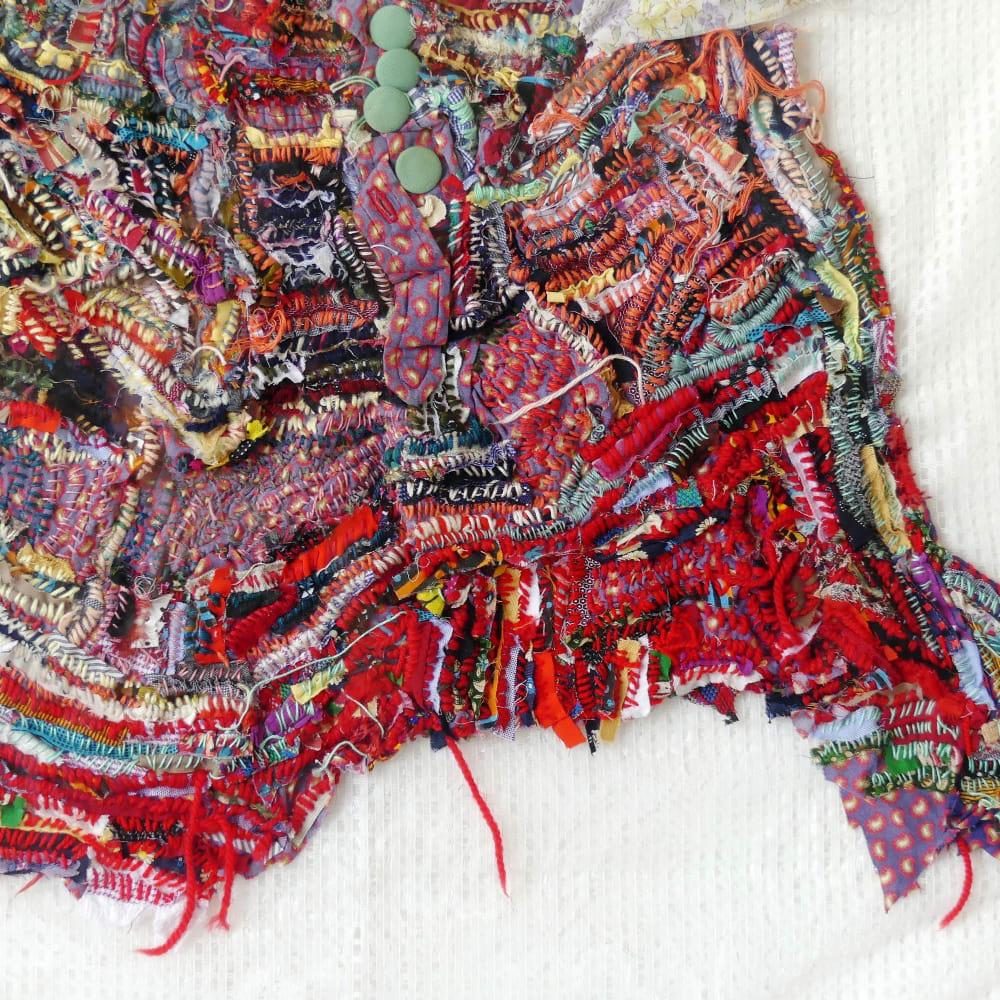 Georgina Maxim l Ma Mére II (Detail) l 2018 l Mixed media textile l 82x77x4cm