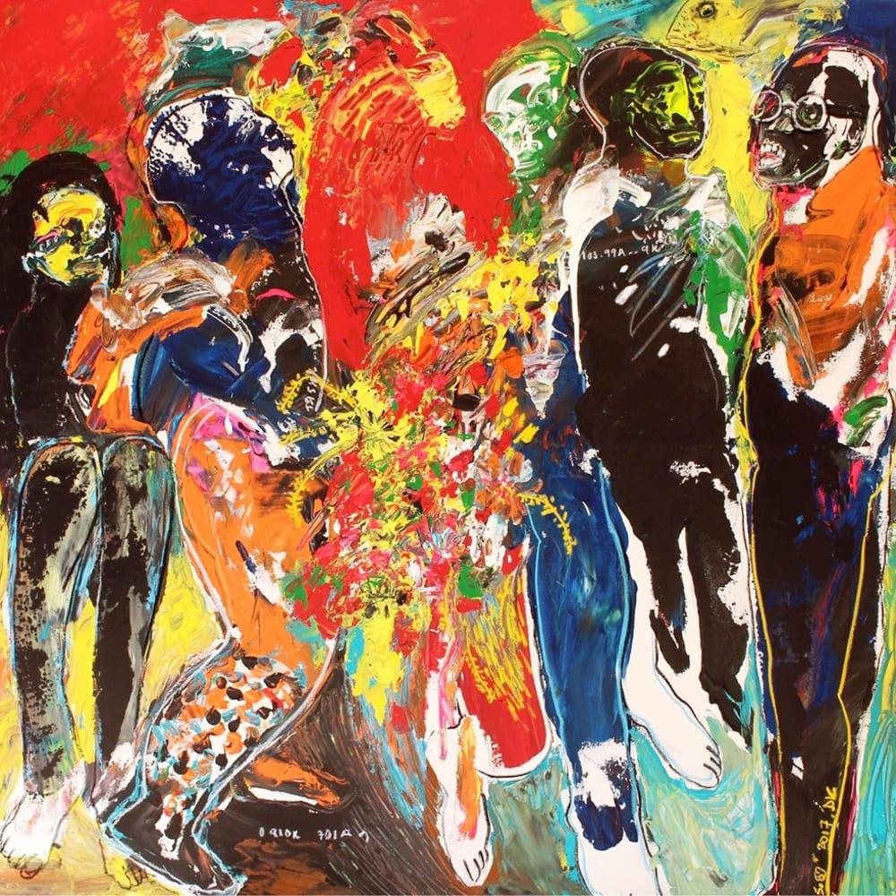 Soly Cissé I The Possession I 2019 I Acrylic and pastel on canvas I 150 x 150 cm