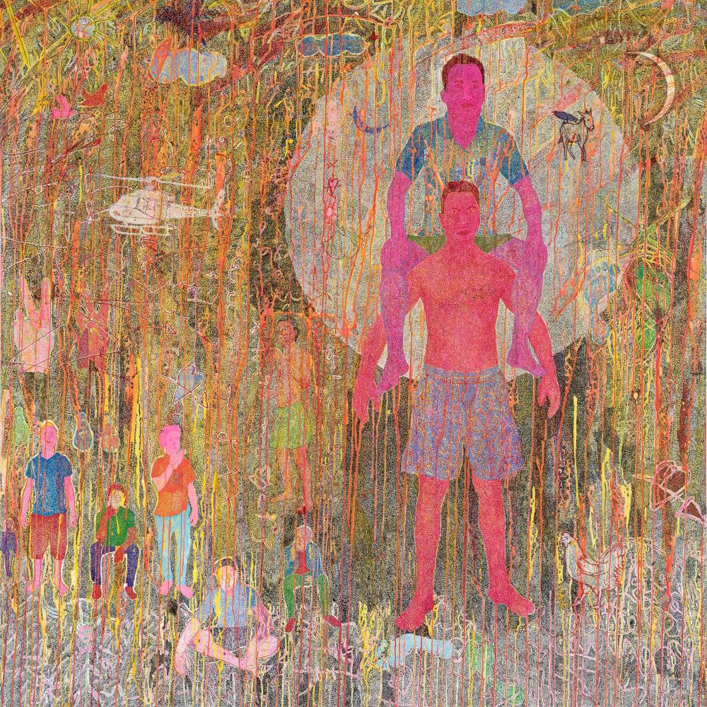 Slimen El Kamel l Disconnect l 2018 l Acrylic on canvas l 143x140cm
